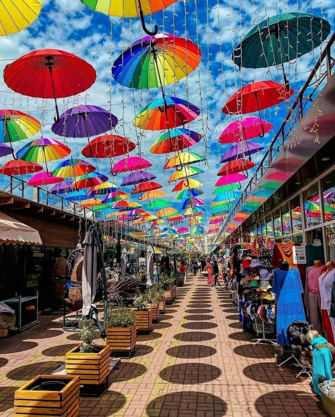 парящих зонтиков