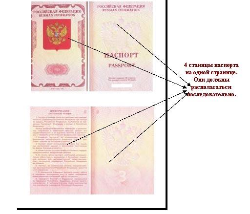 копия паспорта на визу