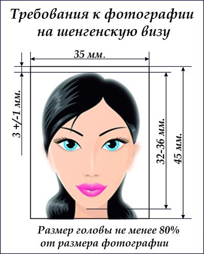 фото на визу в испанию фото требования