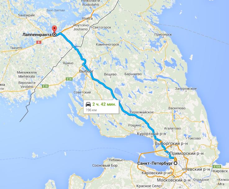 маршрут поездки