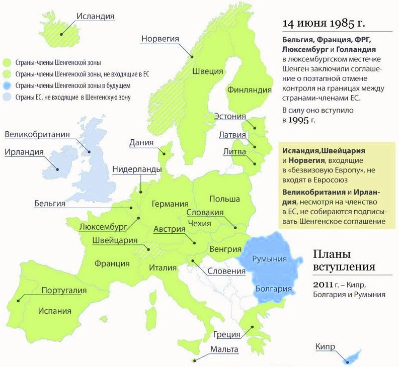 Шенгенская виза в первый раз