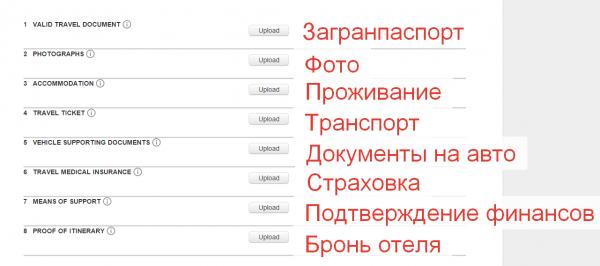 Загрузка документов через сайт