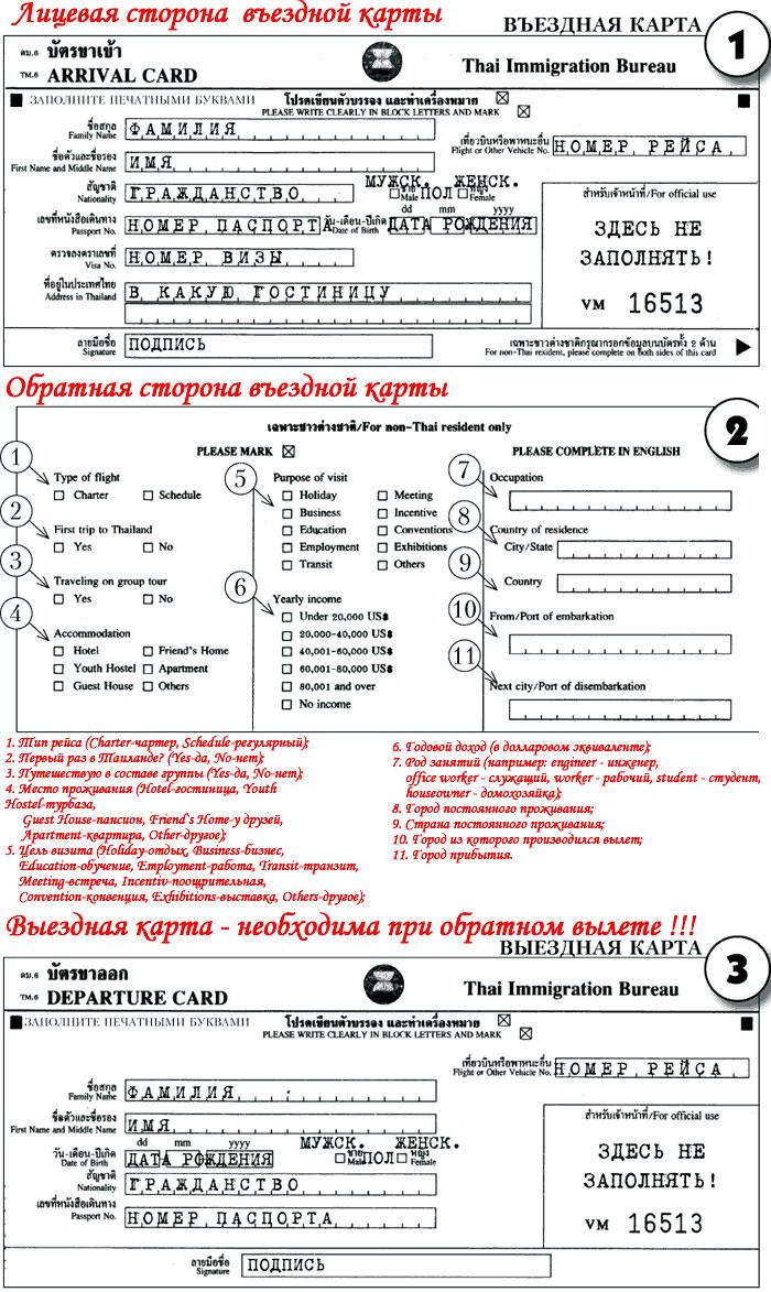 миграционная карточка казахстан образец