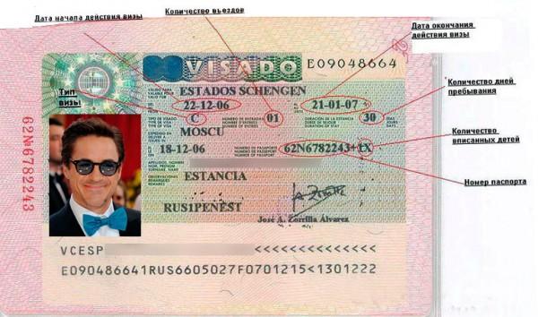 Как выглядит виза на Канары
