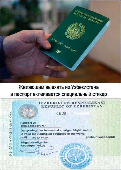 Виза для выезда из Узбекистана