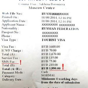 Стоимость визы в Индию