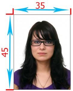 размеры фото на шенгенскую визу в Данию