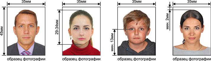 Размеры фото