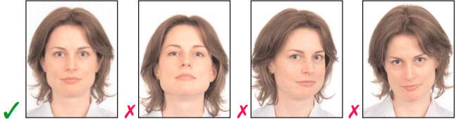 Как выглядит правильная и неправильная фото на визу