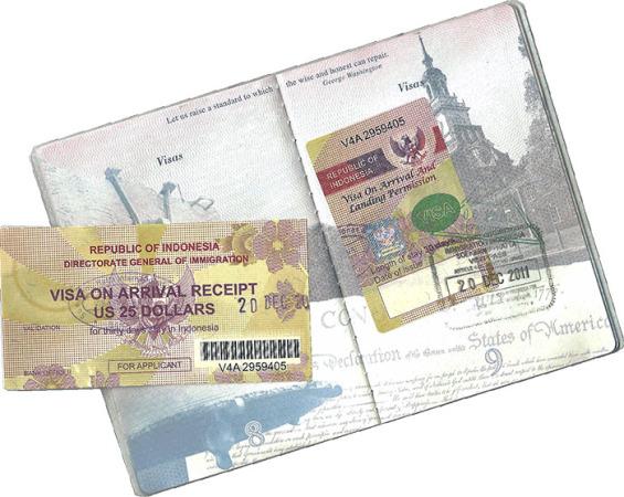 Как выглядит виза по прилету