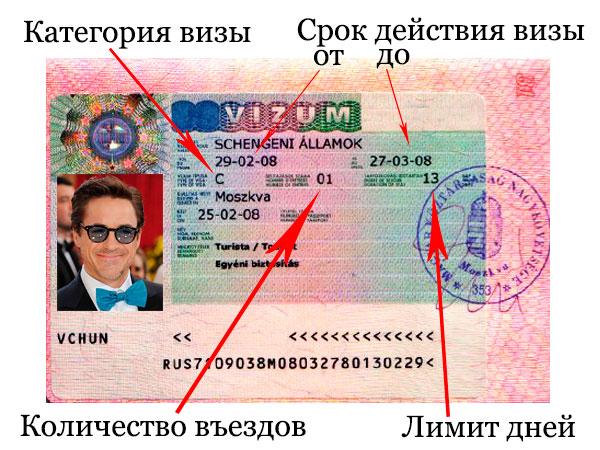 Как выглядит виза в Венгрию