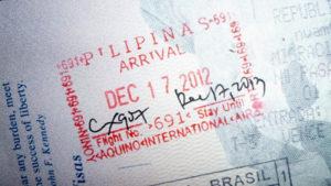 Пограничный штамп Филиппин