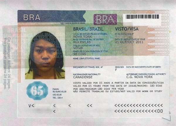 Туристическое визовое разрешение в Бразилию