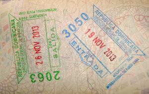 Пограничные штампы Доминиканы
