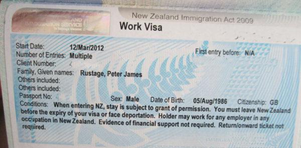 Визовое разрешение для работы