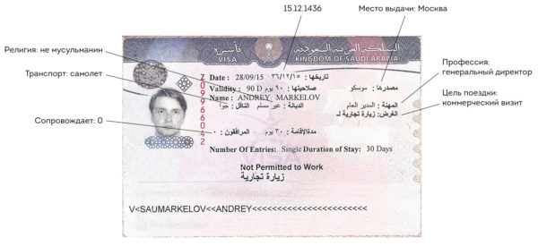 Визовое разрешение в Саудовскую Аравию
