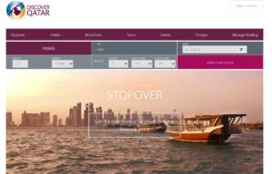 Главная страница сайта Qatar Holidays