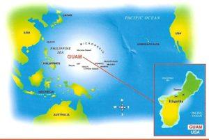 Карта острова Гуам