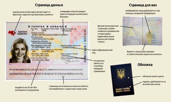 Заграничный паспорт из нутри