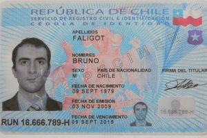 Удостоверение личности чилийца