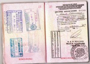Чилийские штампы в паспорте