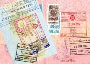 Ливанские штампы в паспорте
