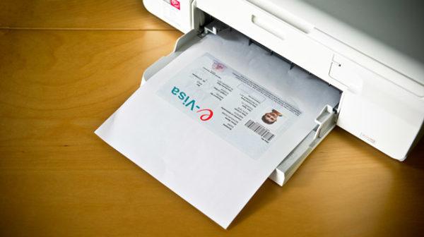 Распечатанная электронная виза